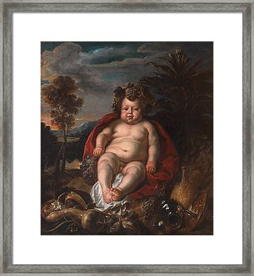 Bacchus As A Child Framed Print