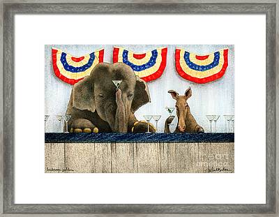 Backroom Politics... Framed Print by Will Bullas