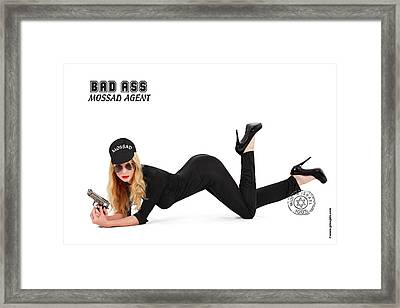 Bad Ass Mossad Agent Framed Print by Pin Up  TLV