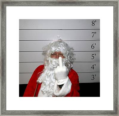 Bad Santa Framed Print by Michael Ledray