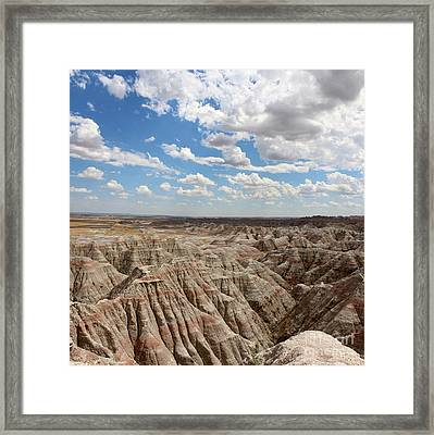 Badland National Park South Dakota Framed Print by Adam Long