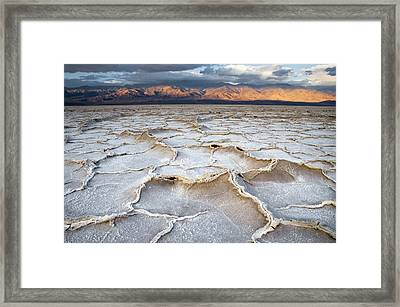 Badwater Sunrise Framed Print