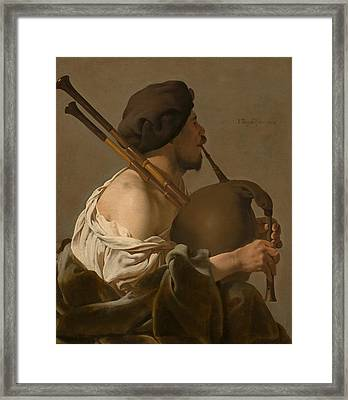 Bagpipe Player  Framed Print