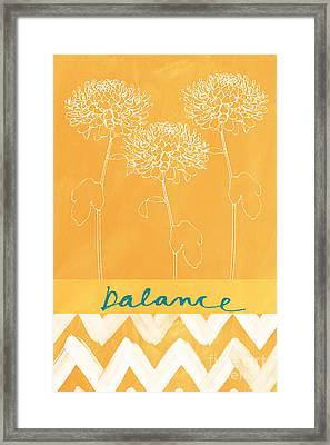Balance Framed Print by Linda Woods