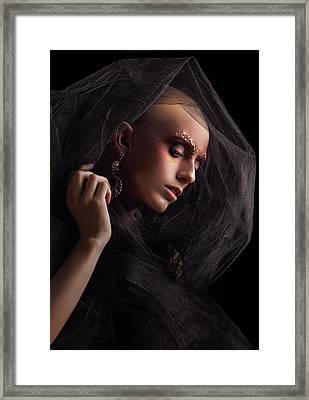Baldhead Woman Framed Print