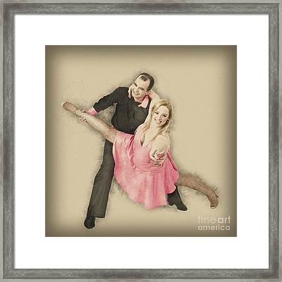 Ball Room Dancers Framed Print