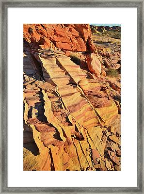 Framed Print featuring the photograph Bands Of Color In Valley Of Fire by Ray Mathis