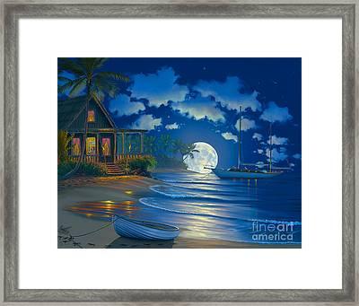 South Seas Paradise Framed Print by Al Hogue