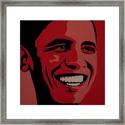 Barack Obama Framed Print by Irene Jonker