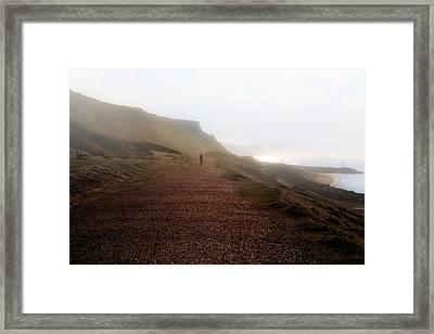 Barton On Sea - England Framed Print by Joana Kruse