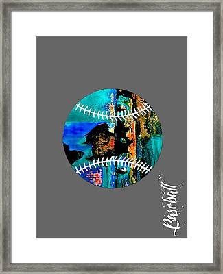Baseball Collection Framed Print by Marvin Blaine