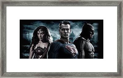 Batman V Superman Dawn Of Justice 2016  Framed Print by Unknown