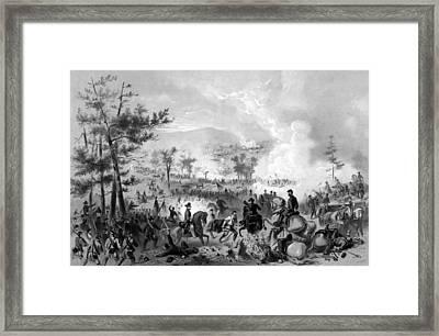 Battle Of Gettysburg Framed Print by War Is Hell Store