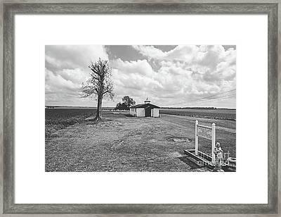 Bayou Country Church -bw Framed Print
