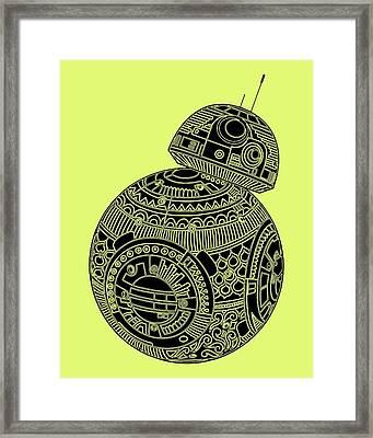 Bb8 Droid - Star Wars Art, Brown Framed Print