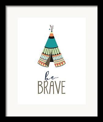 Brave Digital Art Framed Prints