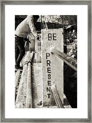 Be Here Now Framed Print by Paul Donohoe