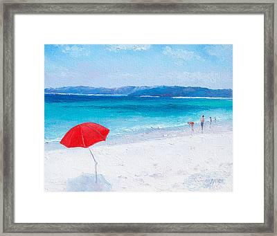 Beach Paddling Framed Print