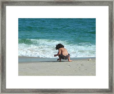Beach Play Framed Print by Ruth Sharton