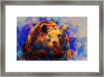 Bear Framed Print by Elena Kosvincheva