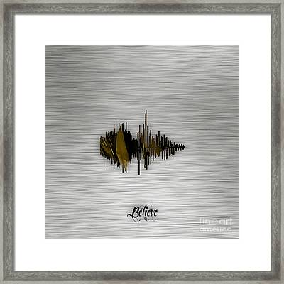 Believe Recorded Soundwave Collection Framed Print
