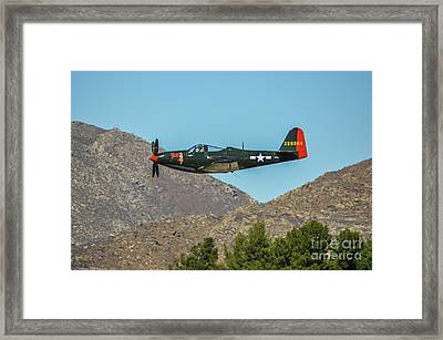 Bell P-63 Kingcobra Framed Print by Tommy Anderson