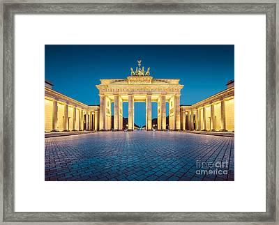 Berlin Brandenburg Gate Framed Print
