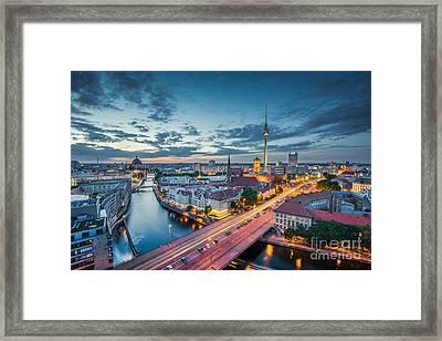Berlin City Lights Framed Print