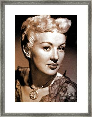 Betty Grable Vintage Hollywood Pinup Framed Print by Mary Bassett