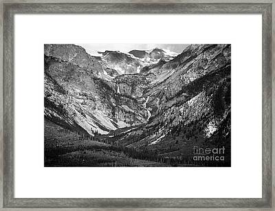 Between Eagles Nest And Rangers Peaks Glacial Waterfall And Cascade Scenic Grand Teton National Park Framed Print