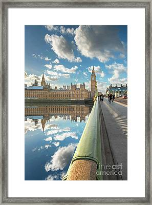 Framed Print featuring the photograph Big Ben London by Adrian Evans