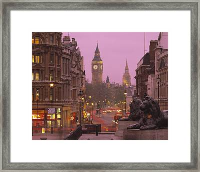 Big Ben London England Framed Print by Panoramic Images
