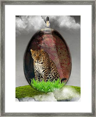 Big Cat Leopard Art Framed Print by Marvin Blaine