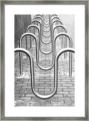 Bike Racks Framed Print