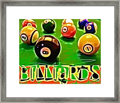 Billiards Pop Art 3 Framed Print by David G Paul