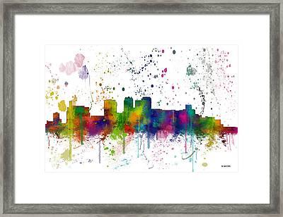 Birmingham Alabama Skyline Framed Print