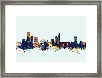 Birmingham England Skyline Framed Print