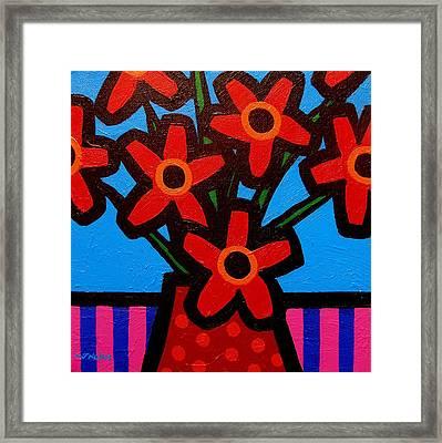 Black Eyed Flowers Framed Print by John  Nolan