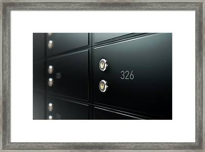 Black Safe Deposit Box Wall Framed Print by Allan Swart