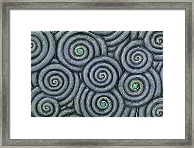 Bleus En Spirale Framed Print by Jacques Vesery