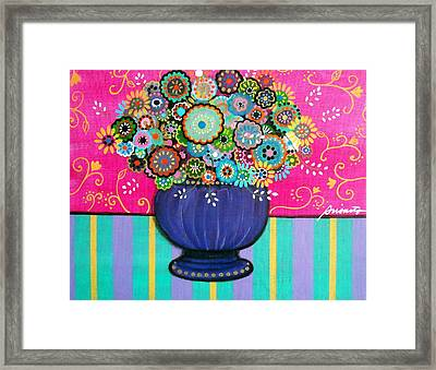 Blooms Framed Print by Pristine Cartera Turkus