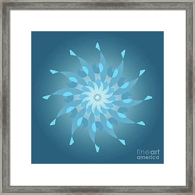 Blue Abstract Star For Home Decoration Framed Print
