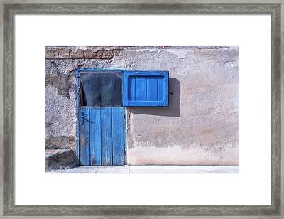 Blue Door Framed Print by Joana Kruse