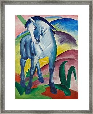 Blue Horse I Framed Print