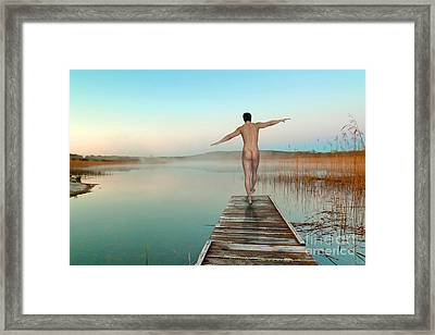 Blue  Framed Print by Mark Ashkenazi
