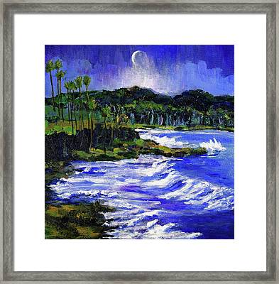 Blue Moon Over Laguna Beach Framed Print by Randy Sprout