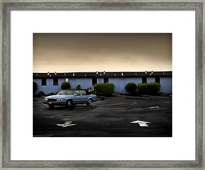 Blue Motel Framed Print