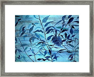 Blue On Blue Framed Print by Vivian  Mosley
