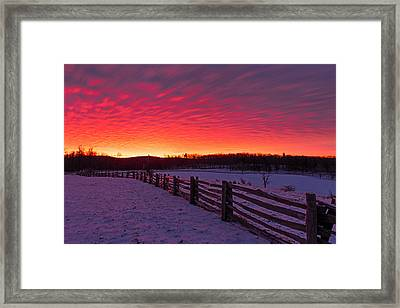 Framed Print featuring the photograph Blue Ridge Parkway Sunrise by Bernard Chen