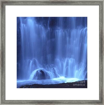 Blue Waterfall Framed Print by Bernard Jaubert